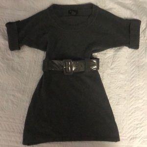 Cute gray knit dress